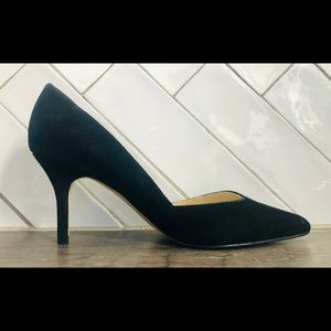 Marc Fisher Point Toe Suede Pumps